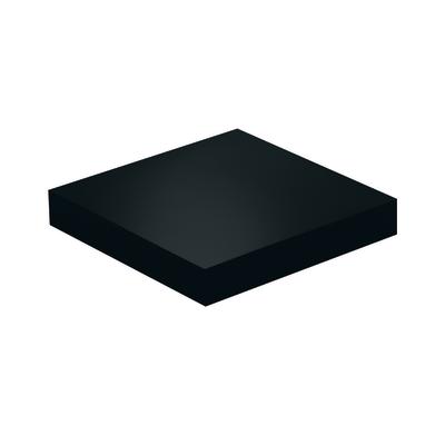 Mensola Spaceo nero L 23,5 x P 23,5, sp 3,8 cm