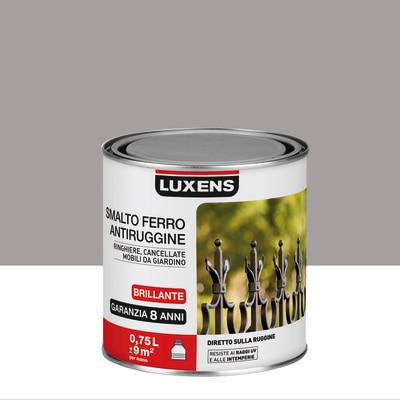 Smalto per ferro antiruggine Luxens grigio brillante 0,75 L