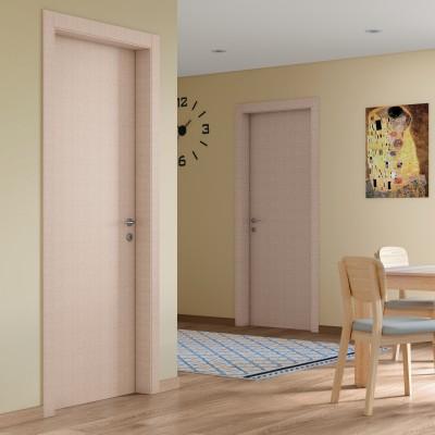 Porta da interno battente Klimt kaki 70 x H 210 cm sx