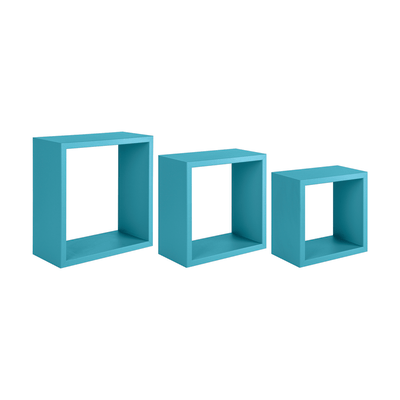 Set 3 cubi Spaceo blu, sp 1,8 cm