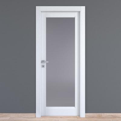 Porta da interno battente Bellatrix bianco 80 x H 210 cm dx