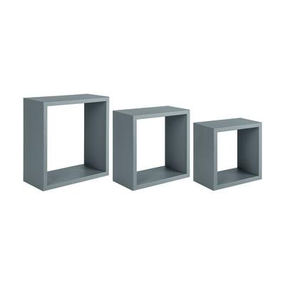 Set 3 cubi Spaceo grigio, sp 1,8 cm