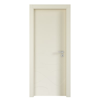 Porta da interno battente Wind ivory avorio 70 x H 210 cm sx