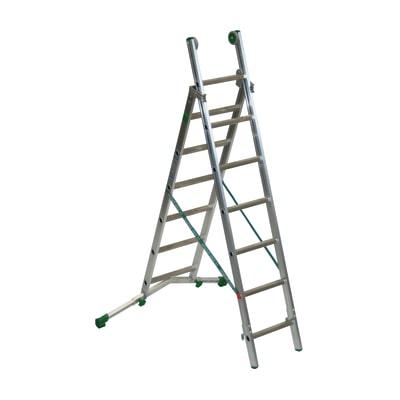 Scala sfilo alluminio Facal 6+7 gradini, per lavori fino a 4,5 m