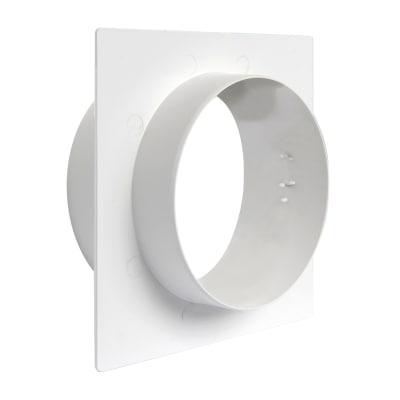 Placca finizione Muro  Ø100 bianco