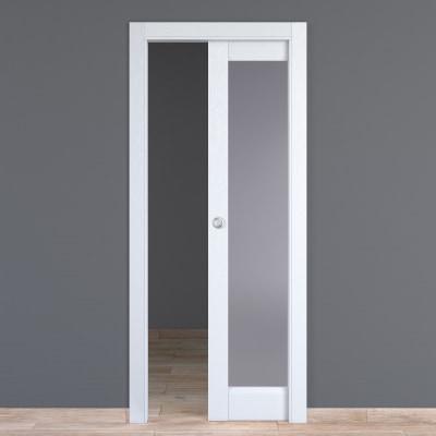 Porta da interno scorrevole Bellatrix bianco 70 x H 210 cm reversibile