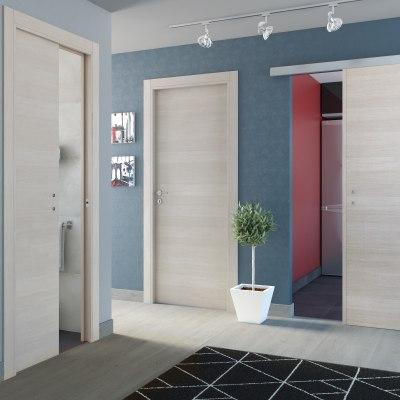 Porta da interno battente One ecrù 90 x H 210 cm reversibile