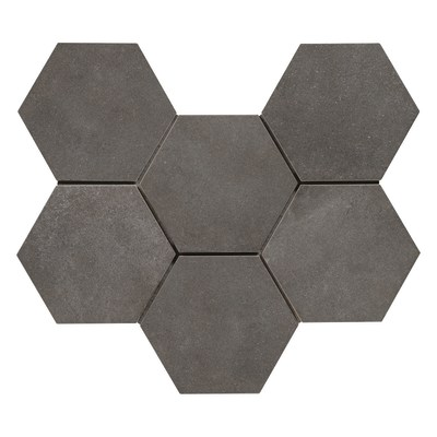 Piastrella Time Hexagone 21 x 18,2 cm antracite