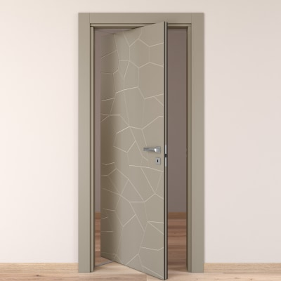 Porta da interno rototraslante The Thing grigio 80 x H 210 cm sx