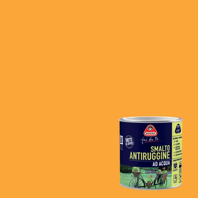 Smalto per ferro antiruggine giallo satinato 0,5 L