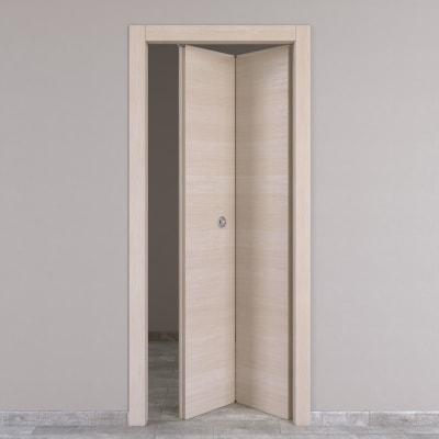 Porta da interno pieghevole Grain rovere grano 70 x H 210 cm dx
