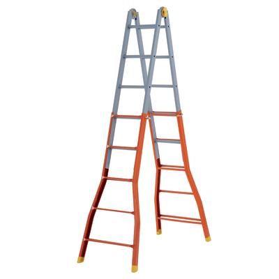 Scala telescopica acciaio Gierre 5+5 gradini, per lavori fino a 5,7 m