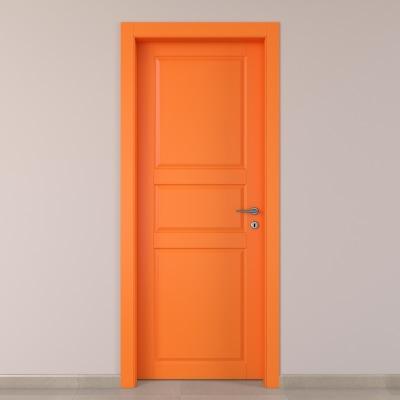 Porta da interno battente New York arancio 60 x H 210 cm sx
