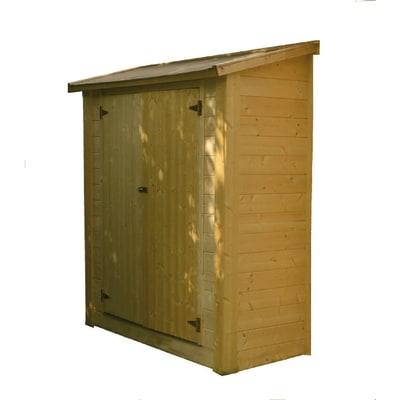 casetta in legno grezzo Kaappi 0,97 m², spessore 28 mm