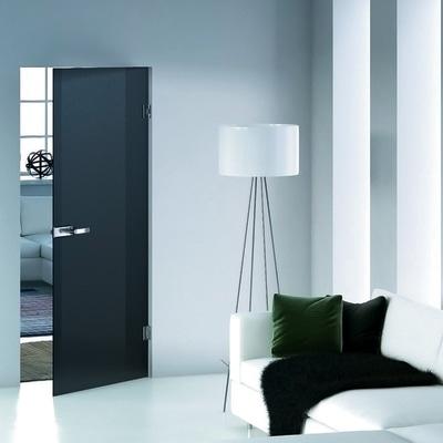 Porta da interno battente Bora nera 80 x H 210 cm reversibile