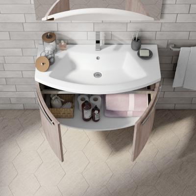 Mobile bagno Round yosemite chiaro L 95 cm