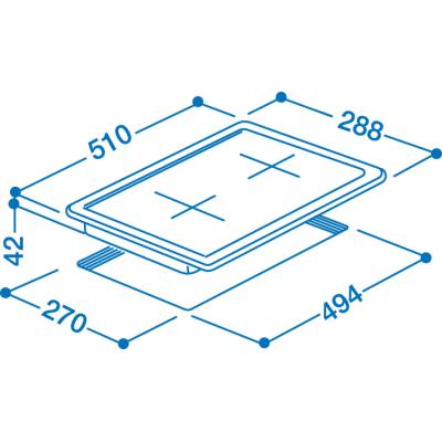 Piano cottura elettrico piastre in ghisa 49,4 cm Indesit DP 2E (IX)