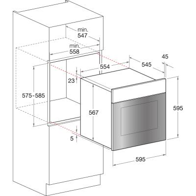Forno elettrico multifunzione ventilato 7 funzioni Hotpoint FT 8450 (AN)/HA S