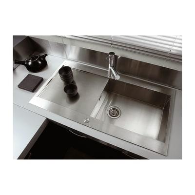 Lavello incasso Mondrian L 100 x P  53 cm 1 vasca + gocciolatoio