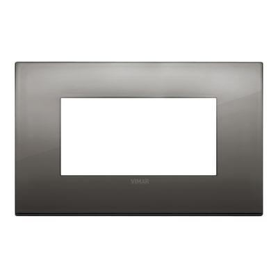 Placca 4 moduli Vimar Arké cromo nero