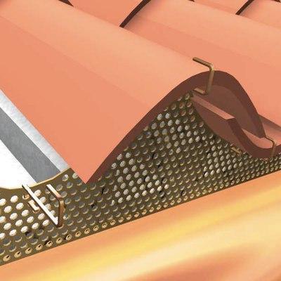 Griglia parapasseri Onduline 89,2 cm marrone in acciaio preverniciato