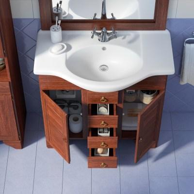 Mobile bagno Laura marrone L 76,5 cm
