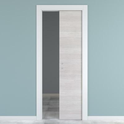 Porta da interno scorrevole One ecru/white 80 x H 210 cm reversibile