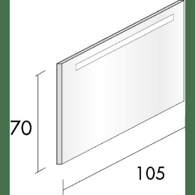 Specchio retroilluminato Bark 105 x 70 cm