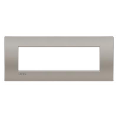 Placca 7 moduli BTicino Livinglight Air marrone