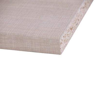 Piano cucina laminato Rovere Segato marrone chiaro 2.8 x 60 x 304 cm