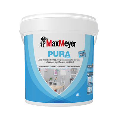 Idropittura superlavabile bianca Max Meyer Pura Active 4 L