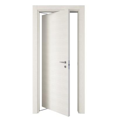 Porta da interno rototraslante Star Bianco Matrix 80 x H 210 cm sx