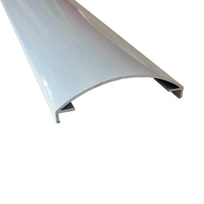 Profilo perimetrale ReadyBlock GlassCover curvo bianco 1 m, 8,53 x 2,3 cm