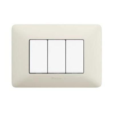 Placca 3 moduli BTicino Matix cenere