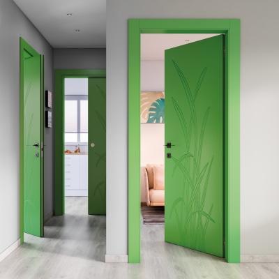 Porta da interno battente Blades green verde 60 x H 210 cm dx