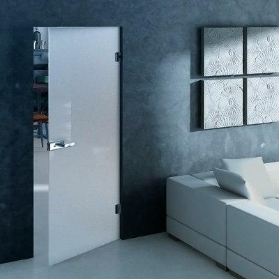Porta da interno battente Bora satinata 80 x H 210 cm reversibile