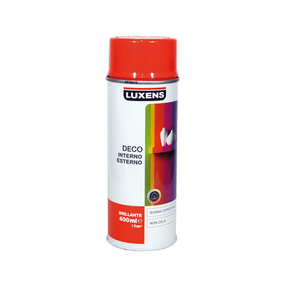 Smalto spray Deco Luxens arancio scuro RAL 2002 brillante 400 ml