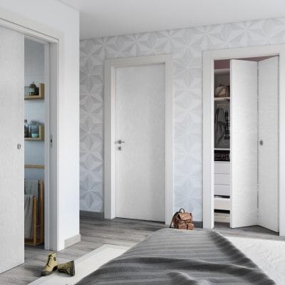 Porta da interno rototraslante Hunk cemento calce 80 x H 210 cm sx
