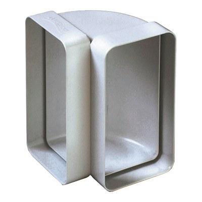 Curva verticale per tubo rettangolare Steel L 6 - 12 cm