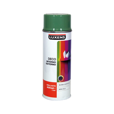 Smalto spray Deco Luxens verde reseda RAL 6011 brillante 400 ml