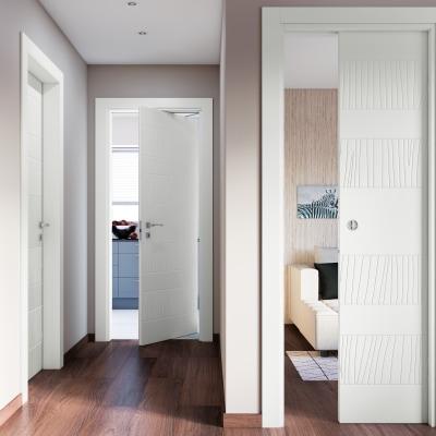 Porta da interno battente Fence bianco 90 x H 210 cm sx