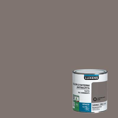Idropittura lavabile Antimuffa Marrone Talpa 3 - 0,75 L Luxens