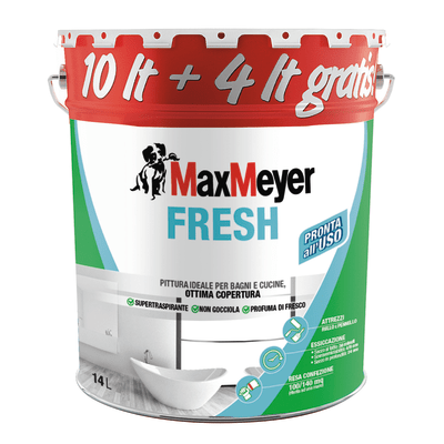 Idropittura traspirante bianca Max Meyer Fresh 14 L