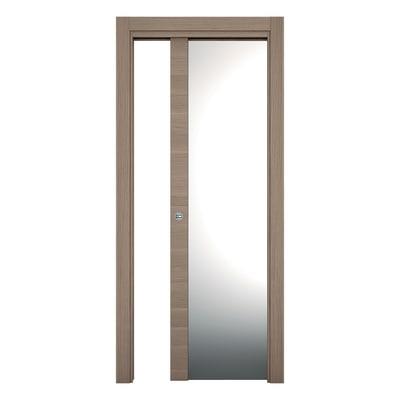 Porta da interno scorrevole Sheraton rovere naturale 70 x H 210 cm reversibile