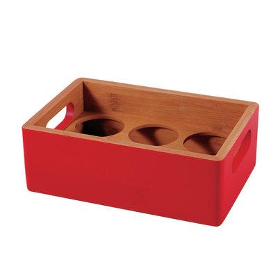 Porta spezie rosso L 18 x P 12 x H 6 cm