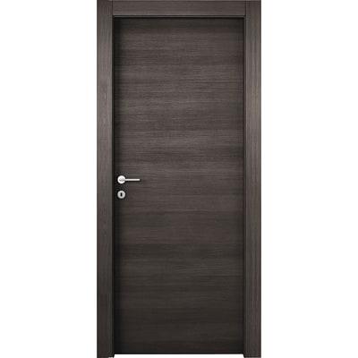 Porta da interno battente Timber Fumo 90 x H 210 cm reversibile