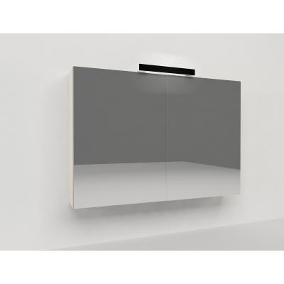Specchio contenitore Key L 90 x H 62 x P  15 cm rovere