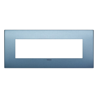 Placca 7 moduli Vimar Arké blu matt