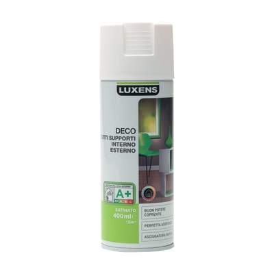 Smalto spray Deco Luxens Bianco Bianco satinato 400 ml