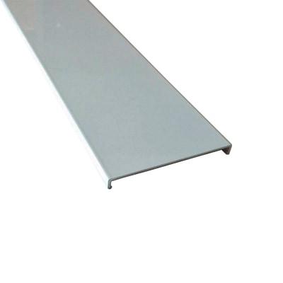 Profilo perimetrale ReadyBlock GlassCover quadro satinato alluminio 1 m, 8,53 x 0,75 cm